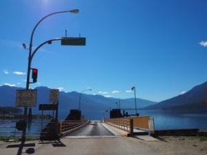 The Kootenay Lake Ferry, British Columbia