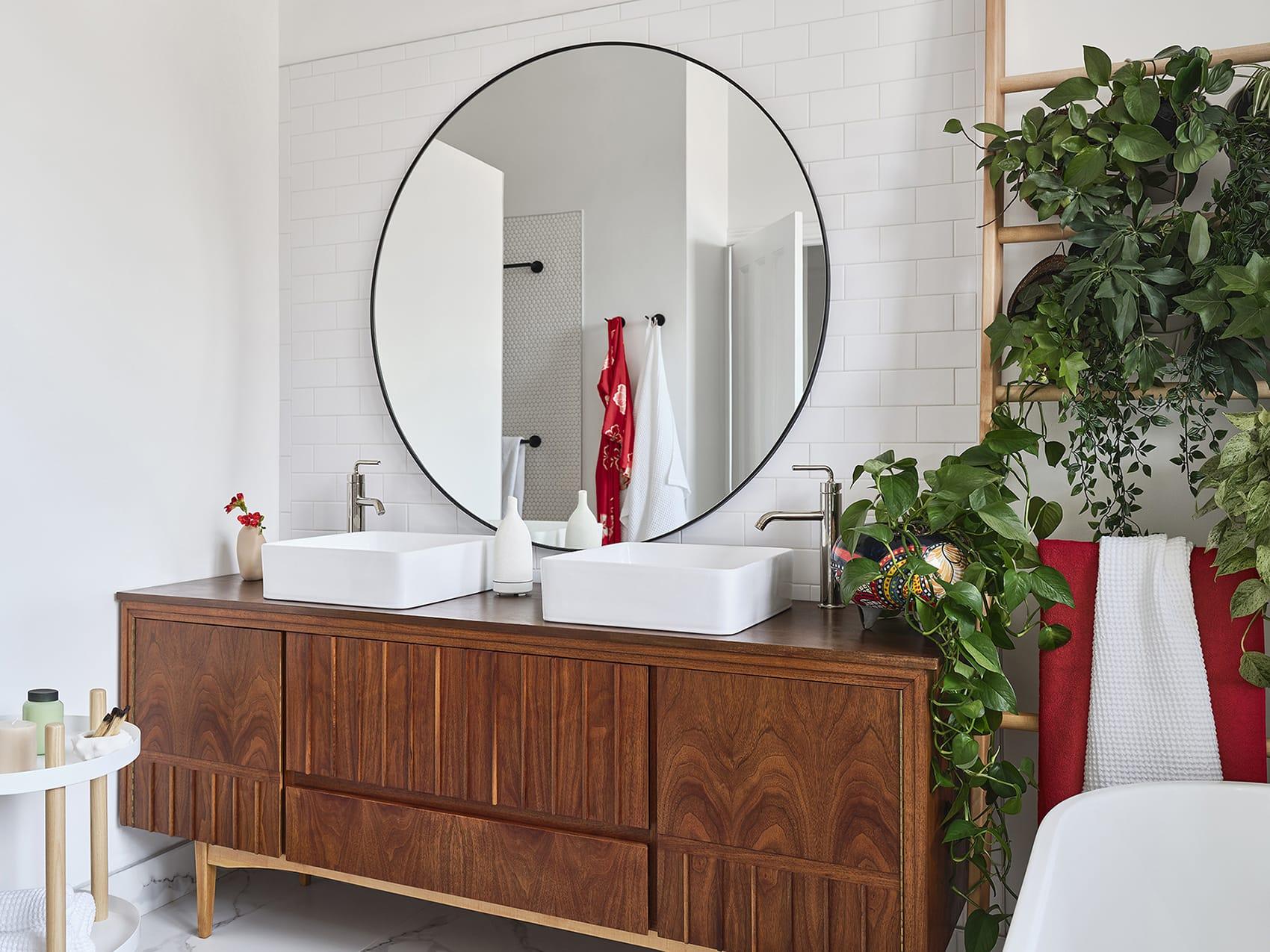 Miroir rond de salle de bain