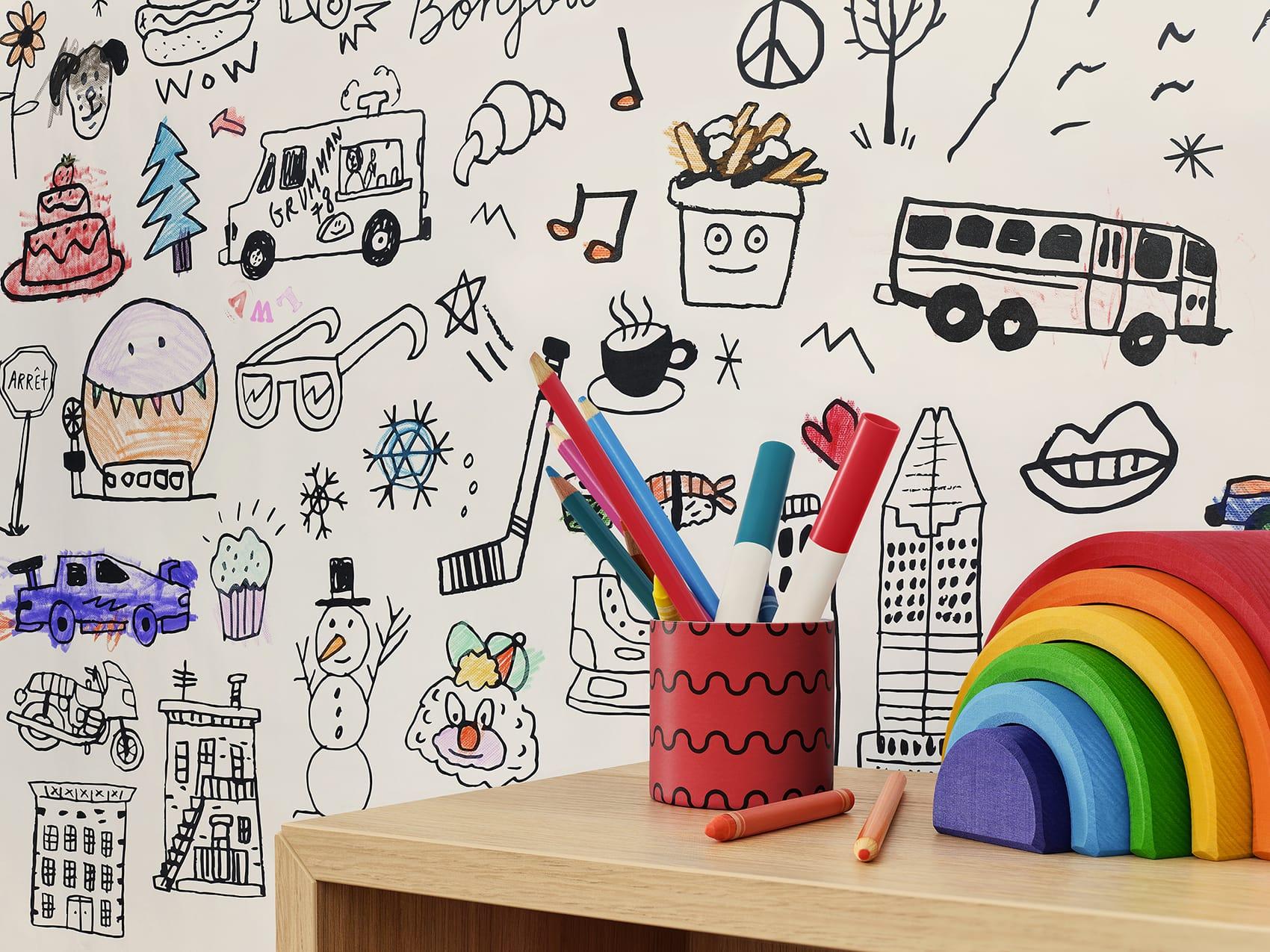 Papier peint pour salle de jeu
